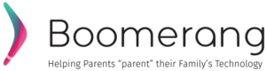 Boomerang logo with tagline