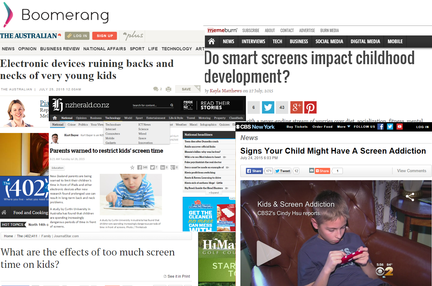Screen Time news articles