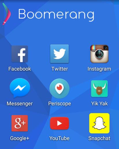 Various Social Media Apps