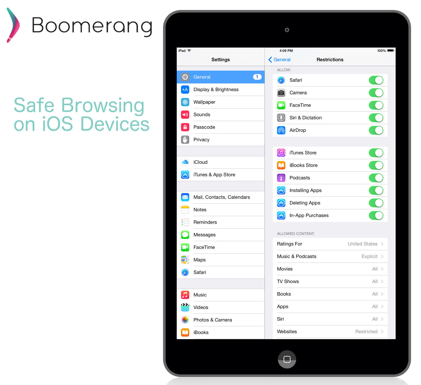 Web filtering in iOS