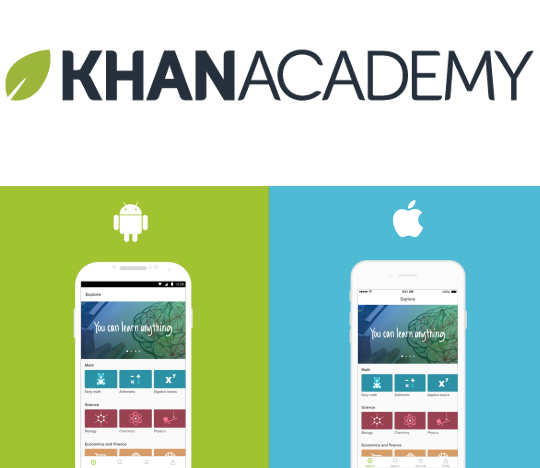 Khan Academy Mobile Apps available