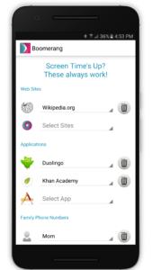 Boomerang Always Allowed list in-app