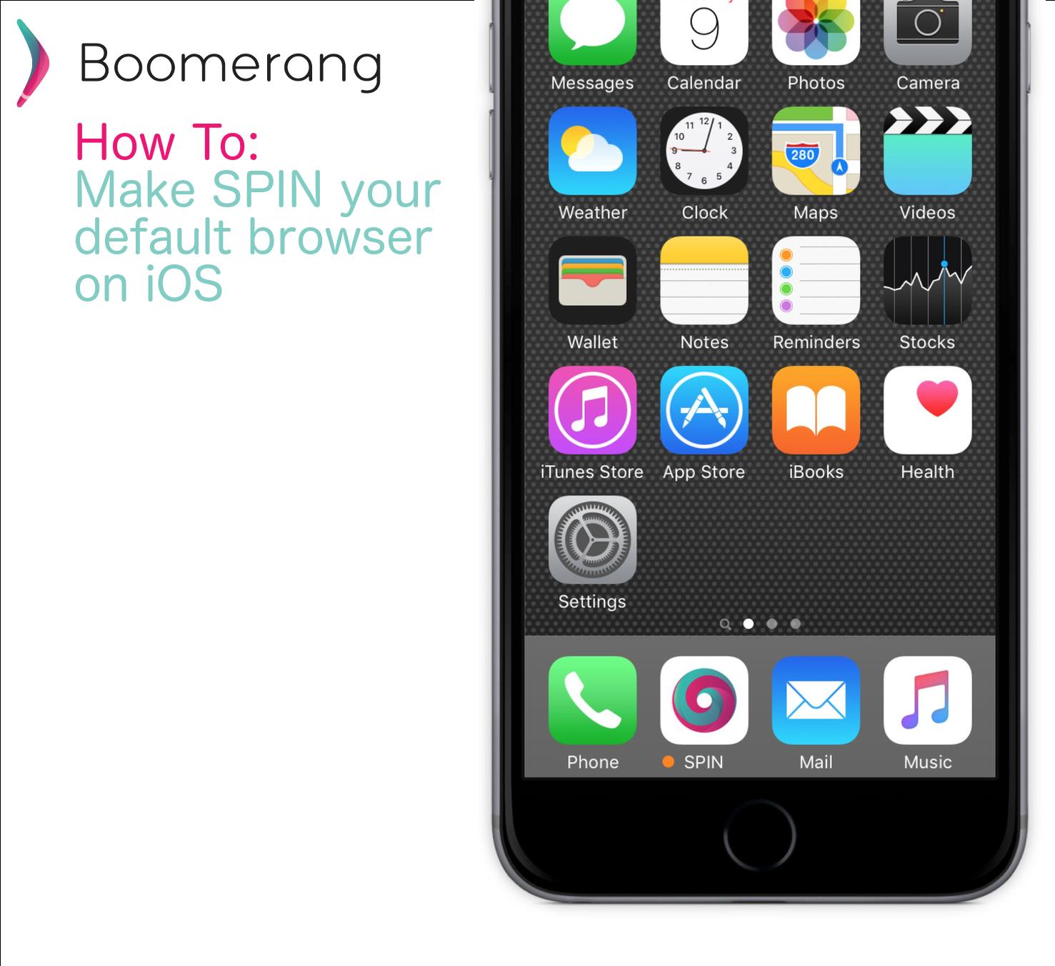Make SPIN default browser iOS