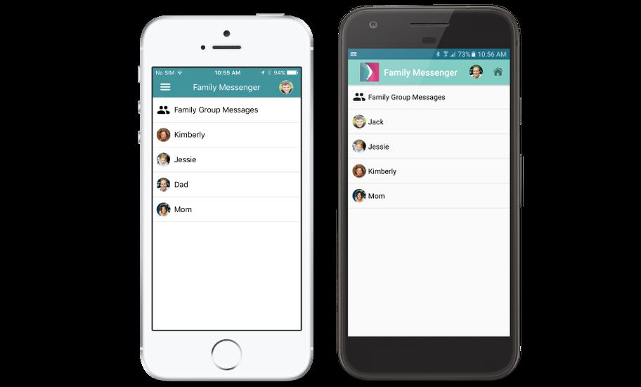Family Messenger-Smartphone mockups