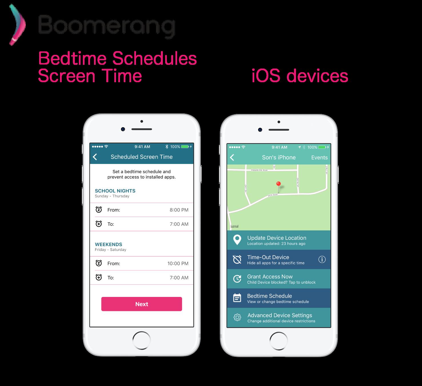 iOSBedTimeSchedulesScreenTime