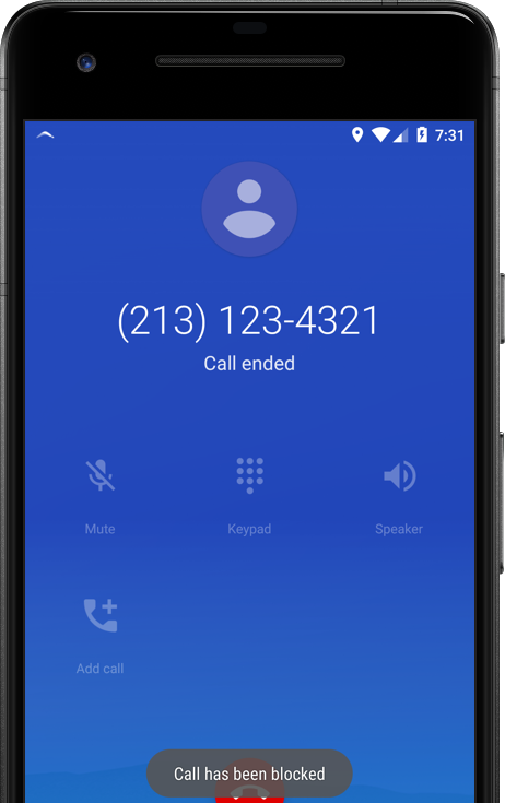 Android Blocked call