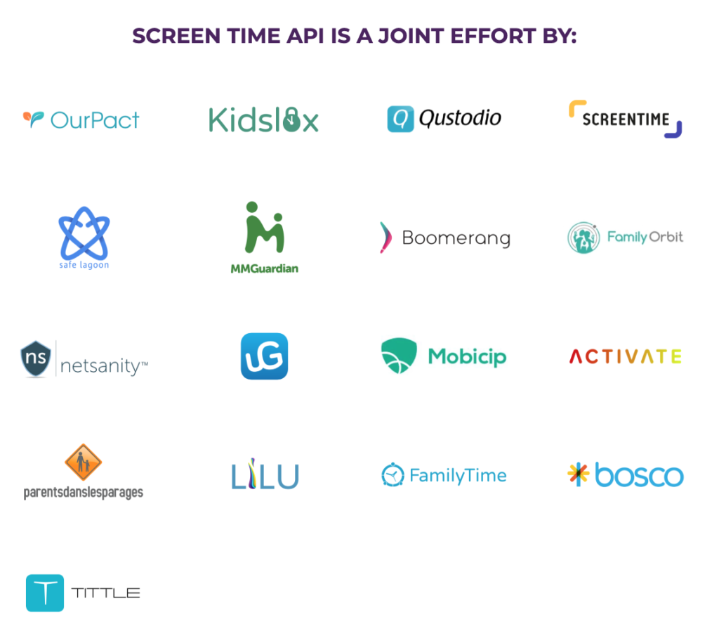 SCREEN TIME API IS A JOINT EFFORT BY