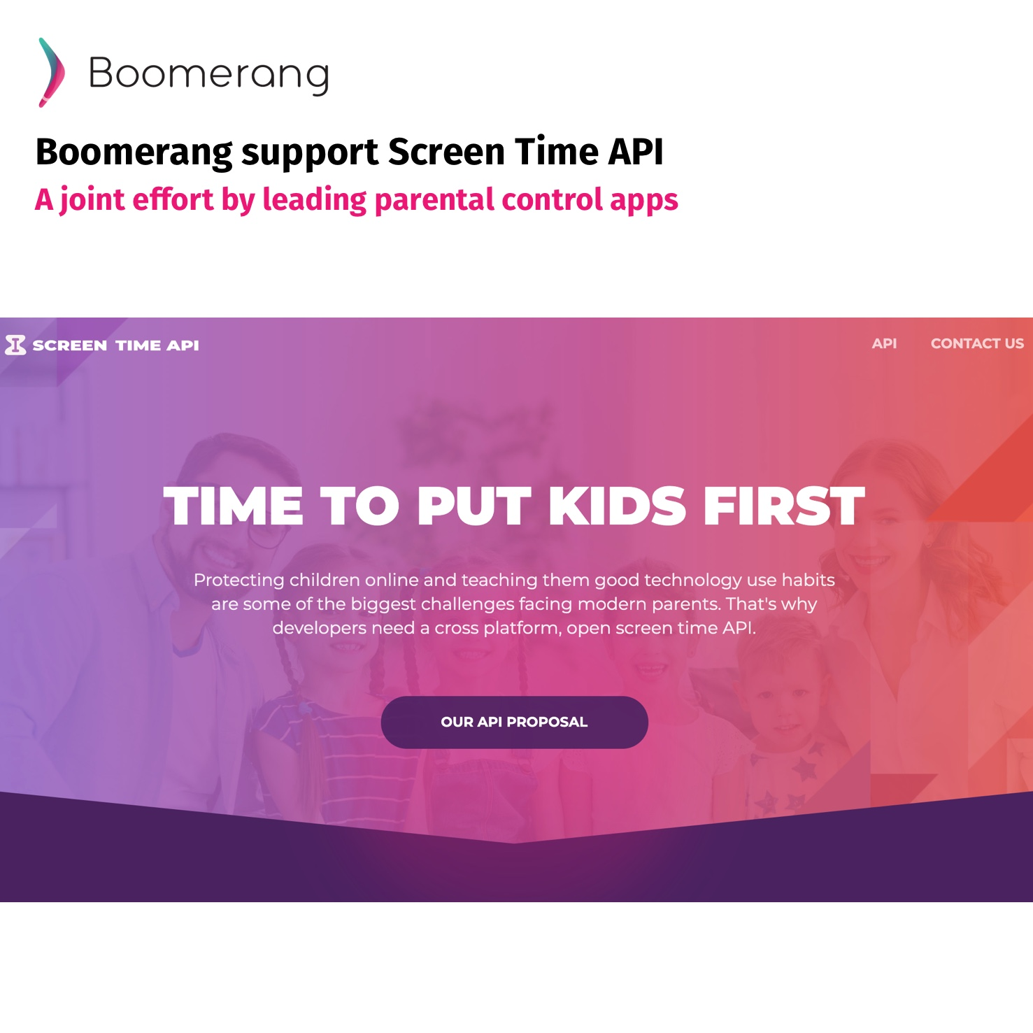 Screen time API