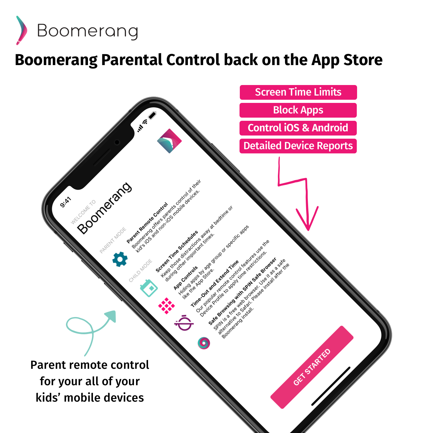 Boomerang Parental Control back on App Store