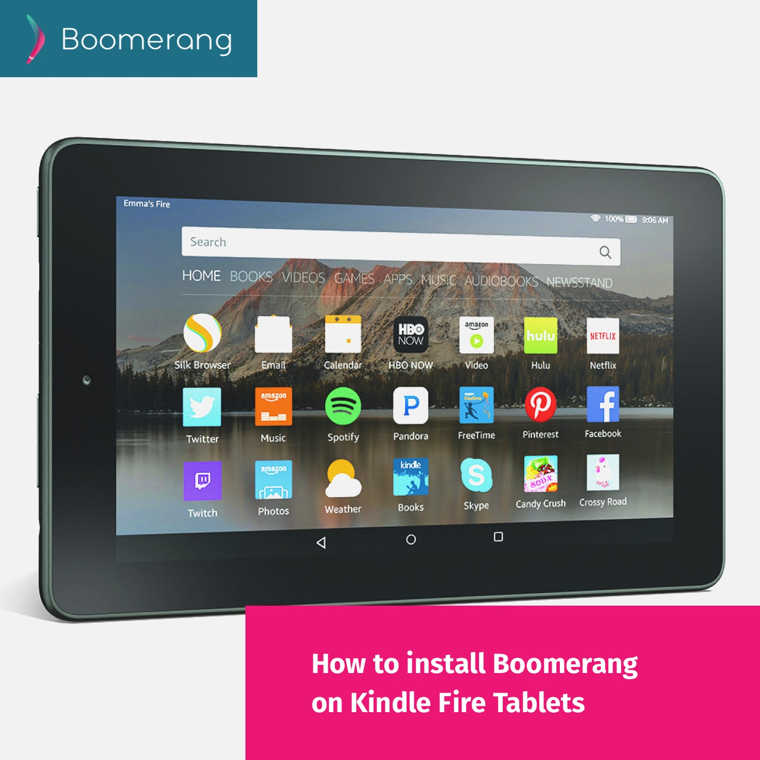 How to install Boomerang Parental Control on Kindle Fire Tablets