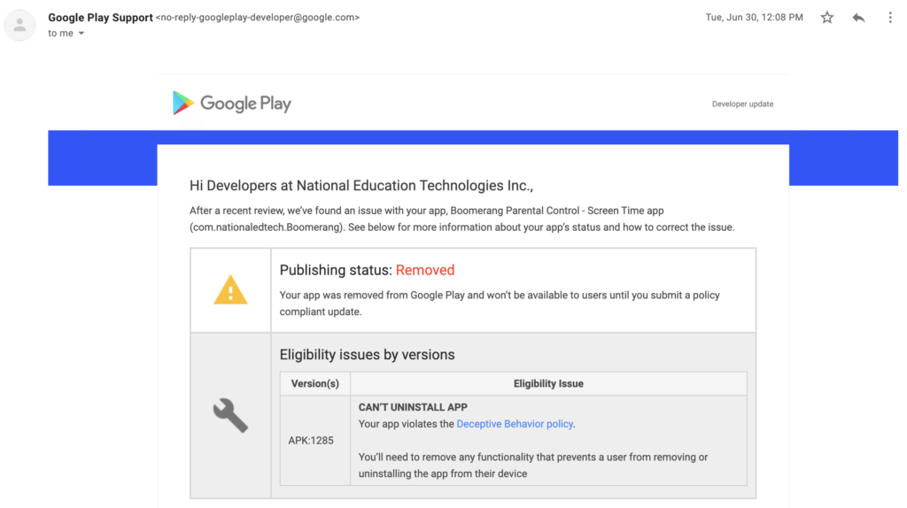 06302020 - Google removes Boomerang